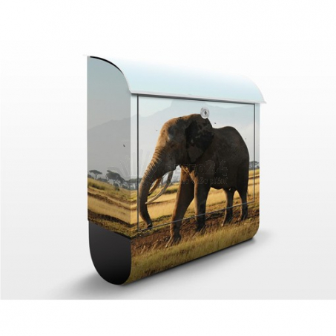 Poštovní schránka s potiskem Sloni před Kilimandžárem
