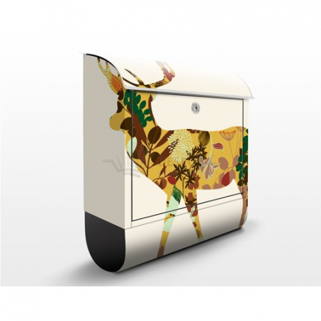 Poštovní schránka s potiskem Ornamenty - květiny č. 073
