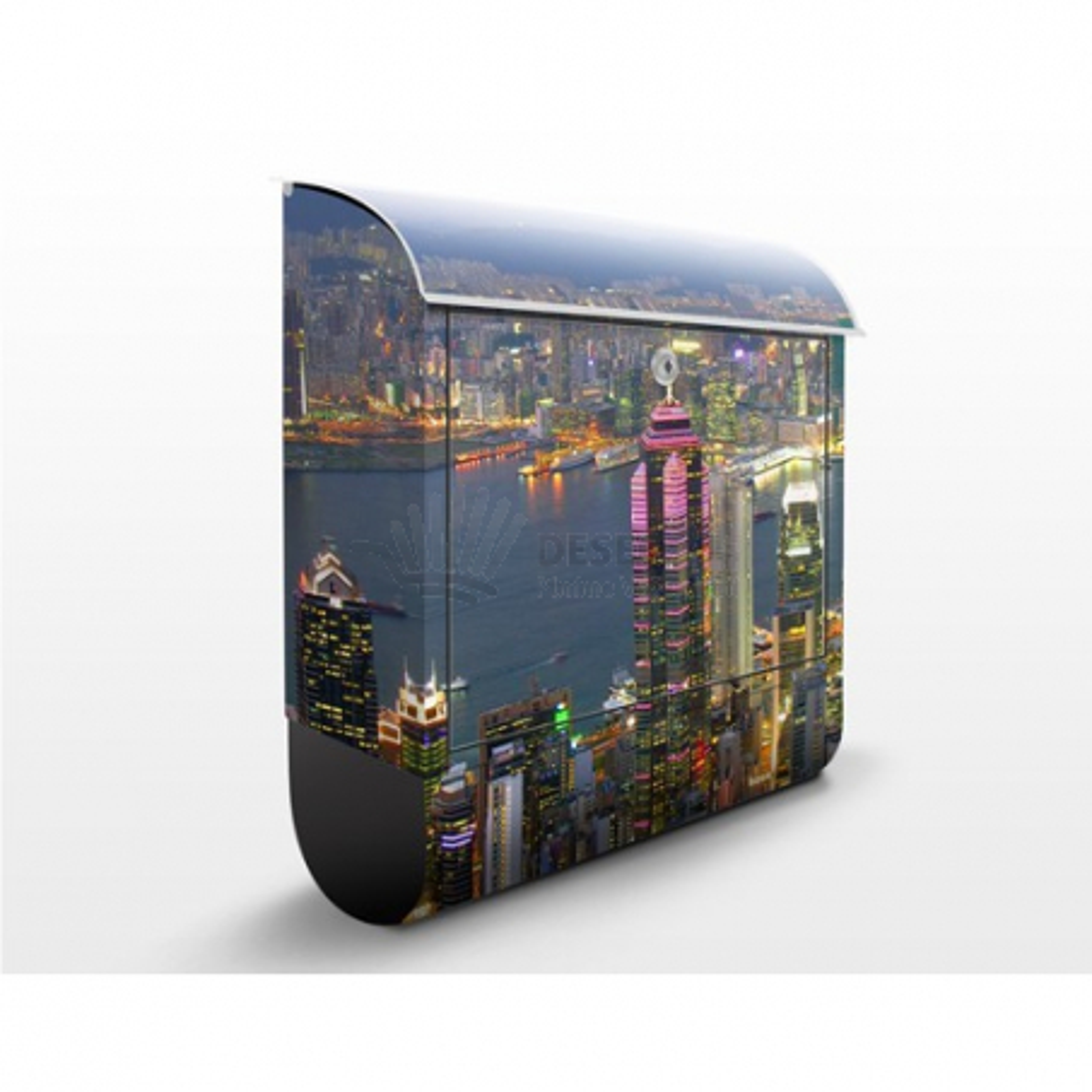 Poštovní schránka s potiskem HongKong Skyline