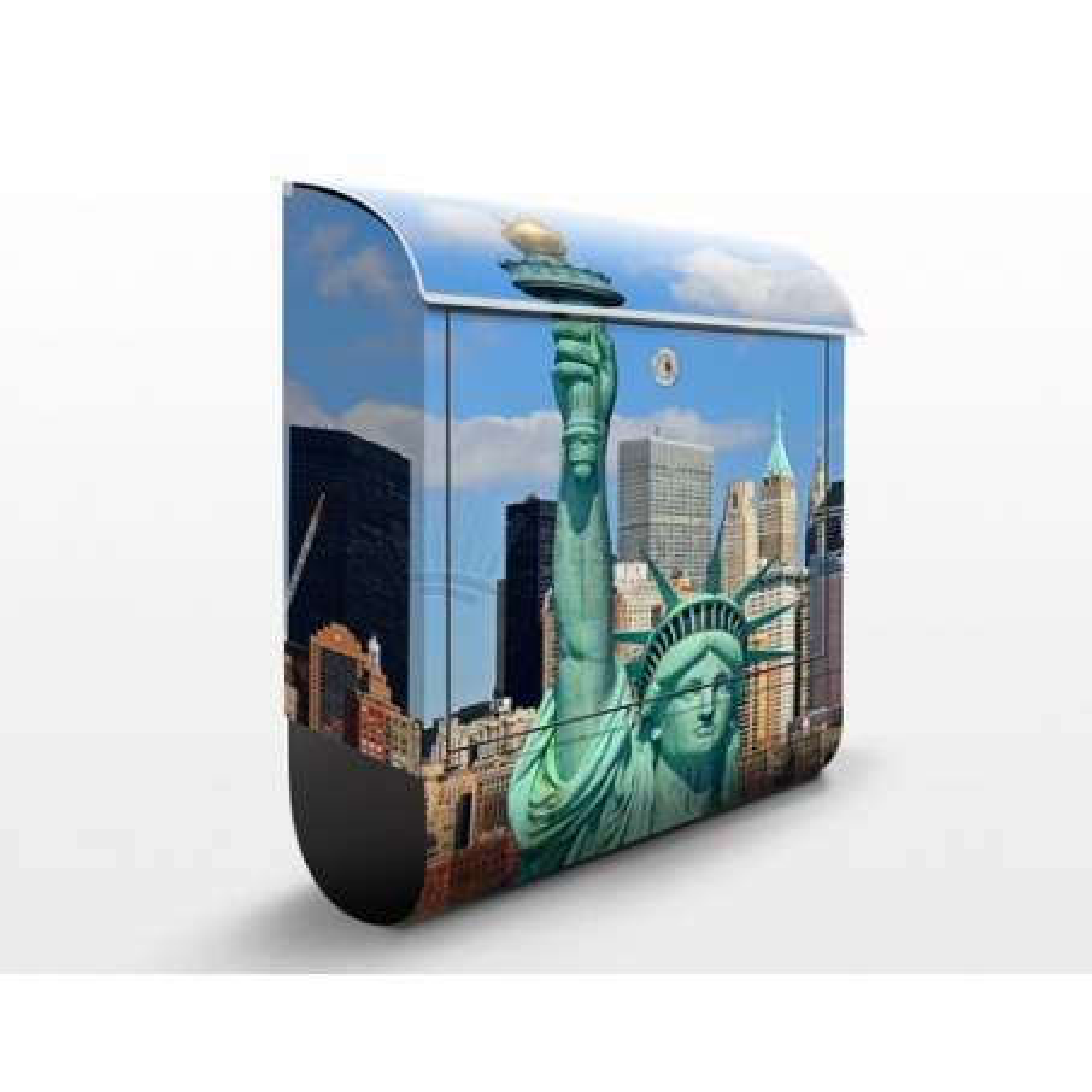 Poštovní schránka s potiskem New York Skyline
