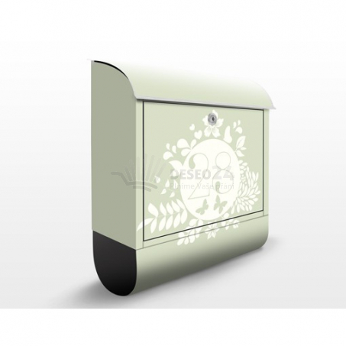 Poštovní schránka s potiskem Květinový štítek (JS309) a vlastním textem