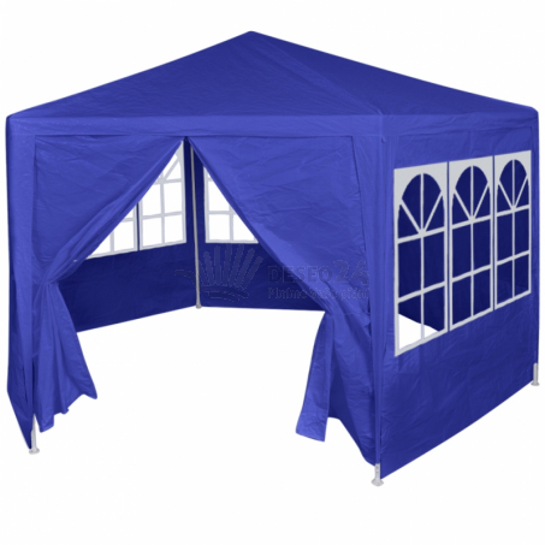 Party stan s 6 stranami modrý 2x2 m