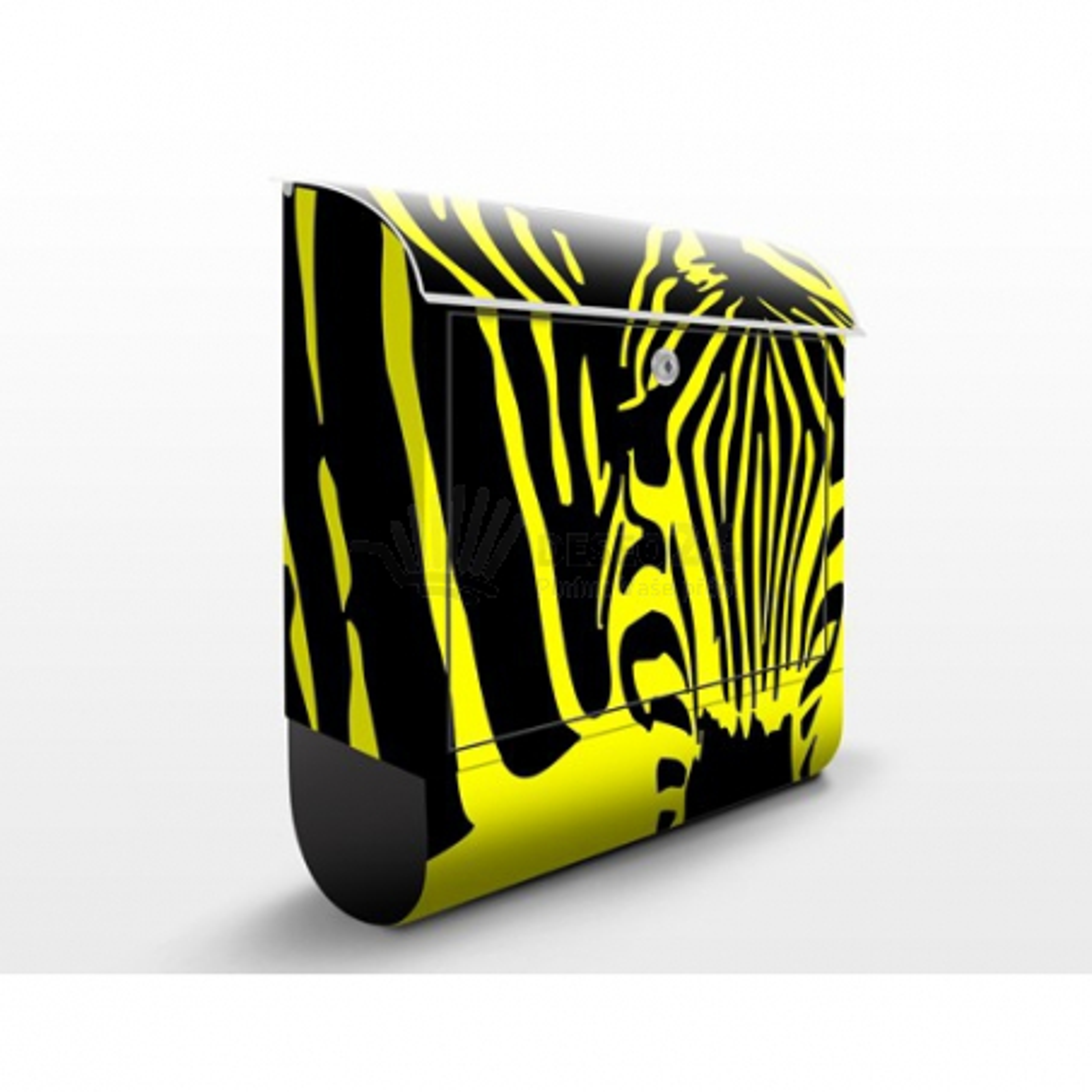 Poštovní schránka s potiskem Pohled zebry