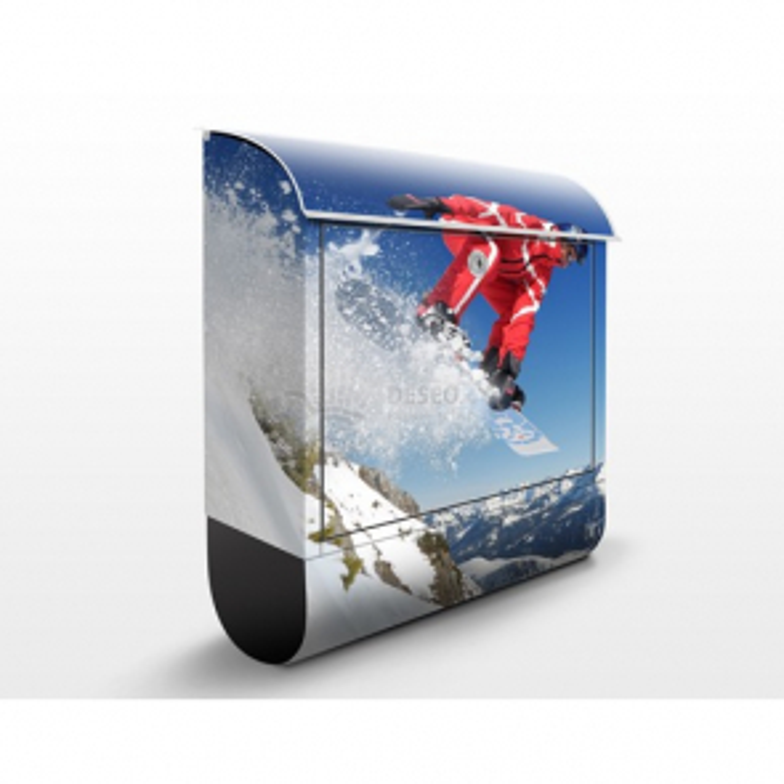 Poštovní schránka s potiskem Skok snowboardisty
