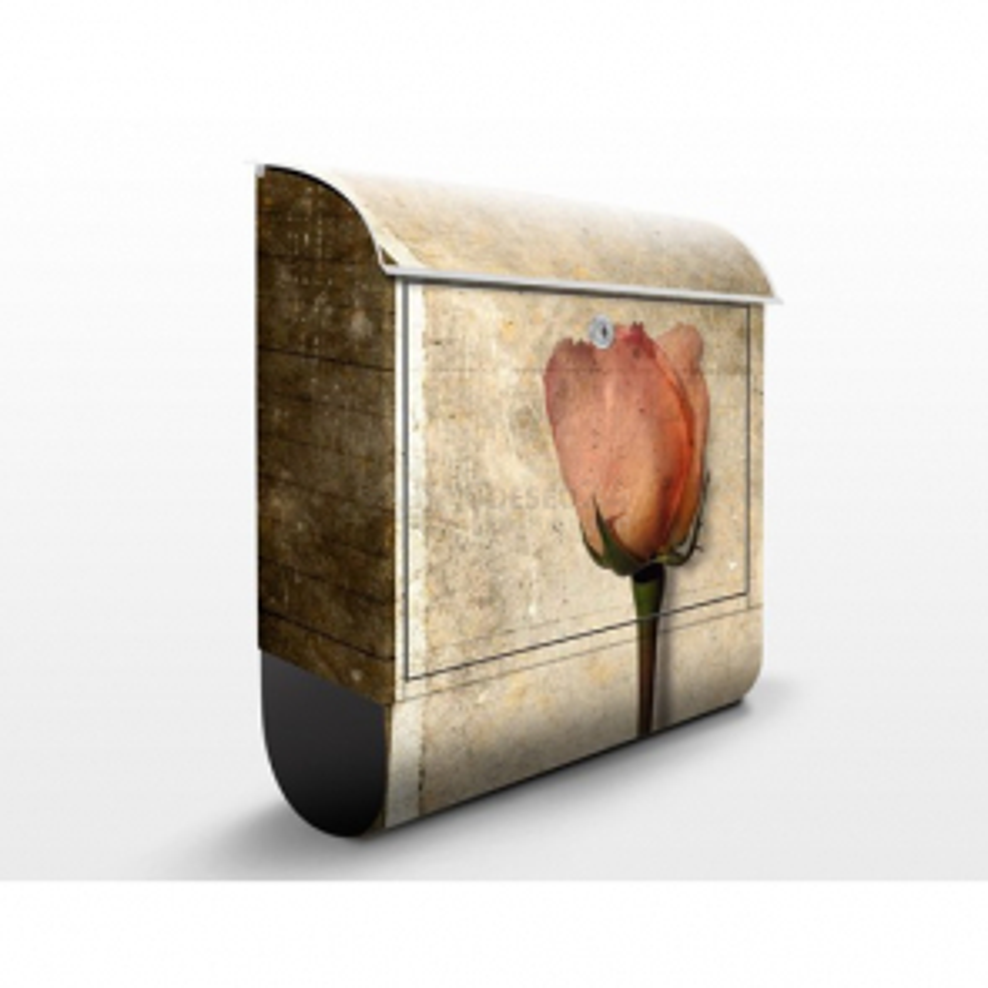 Poštovní schránka s potiskem Retro růže