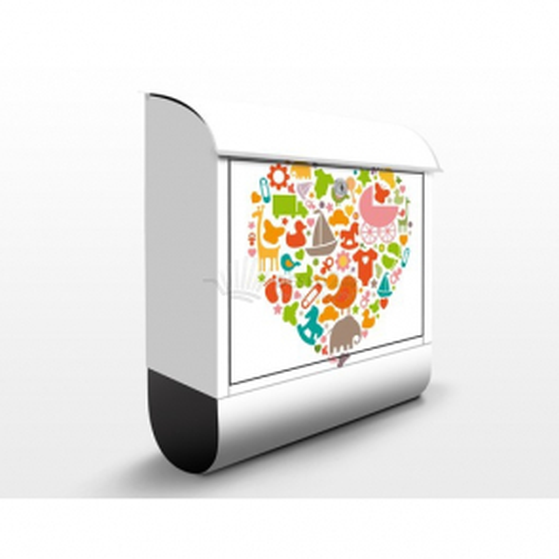 Poštovní schránka s potiskem Dětský svět v srdci (EK133)