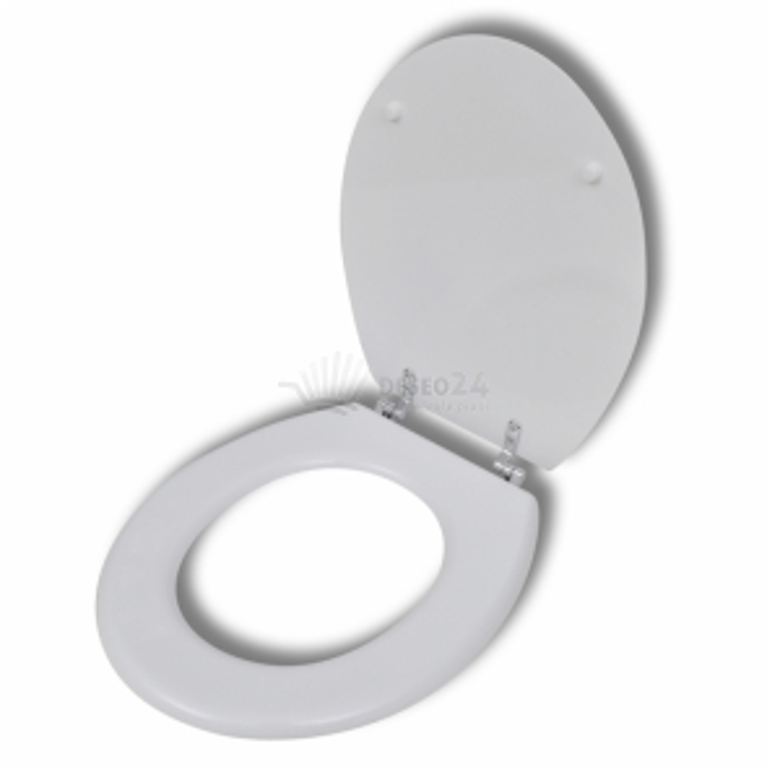WC sedátko MDF prostý design bílé