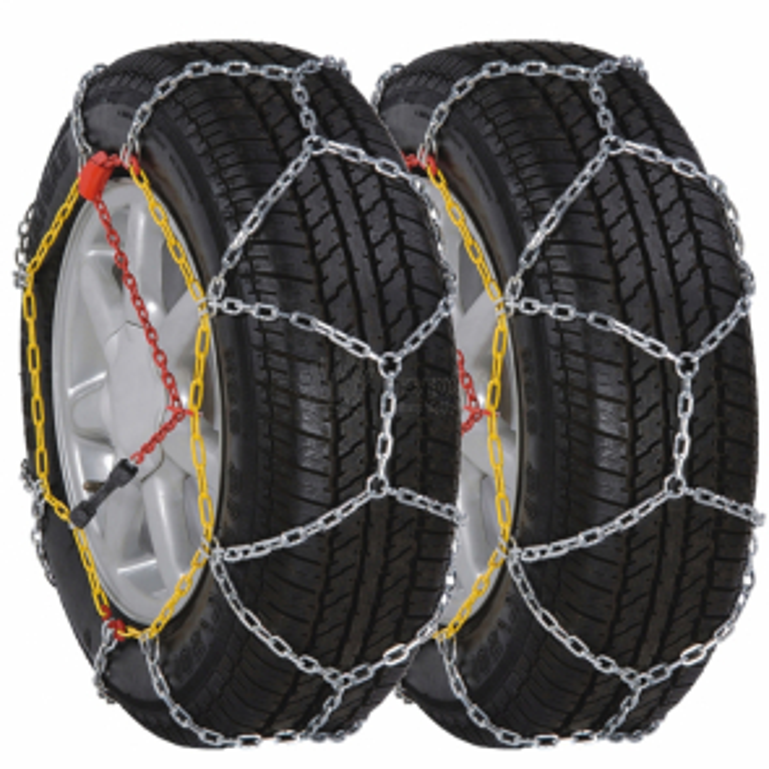 2 ks Sněhové řetězy na pneumatiky aut, 12 mm KN 70