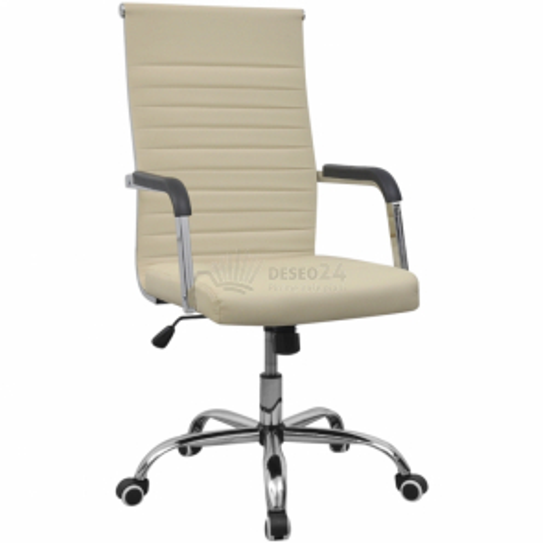 Kancelářská židle z umělé kůže 55 x 63 cm, krémová