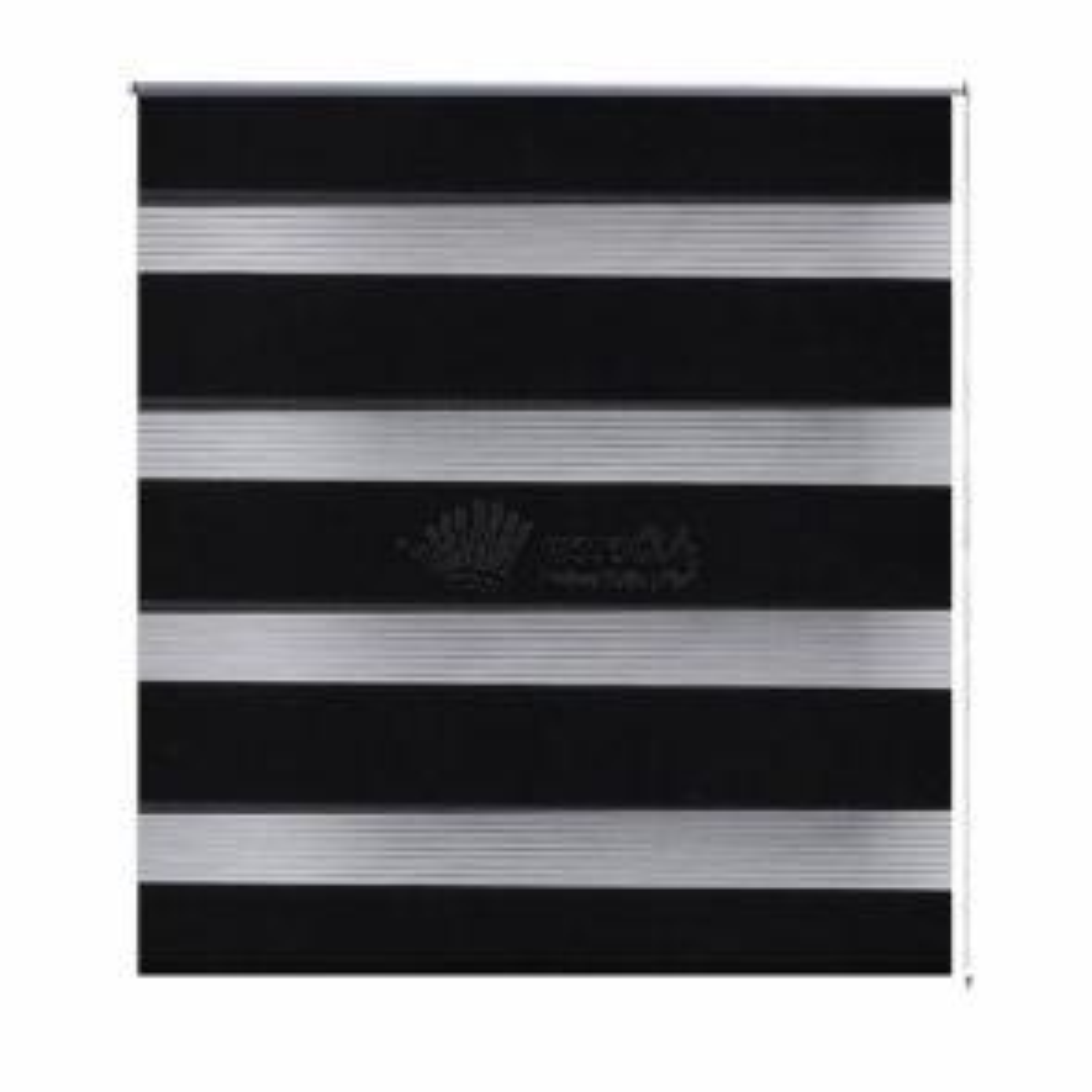 Roleta Zebra / noc a den / Twinroll 120 x 230 cm, černá