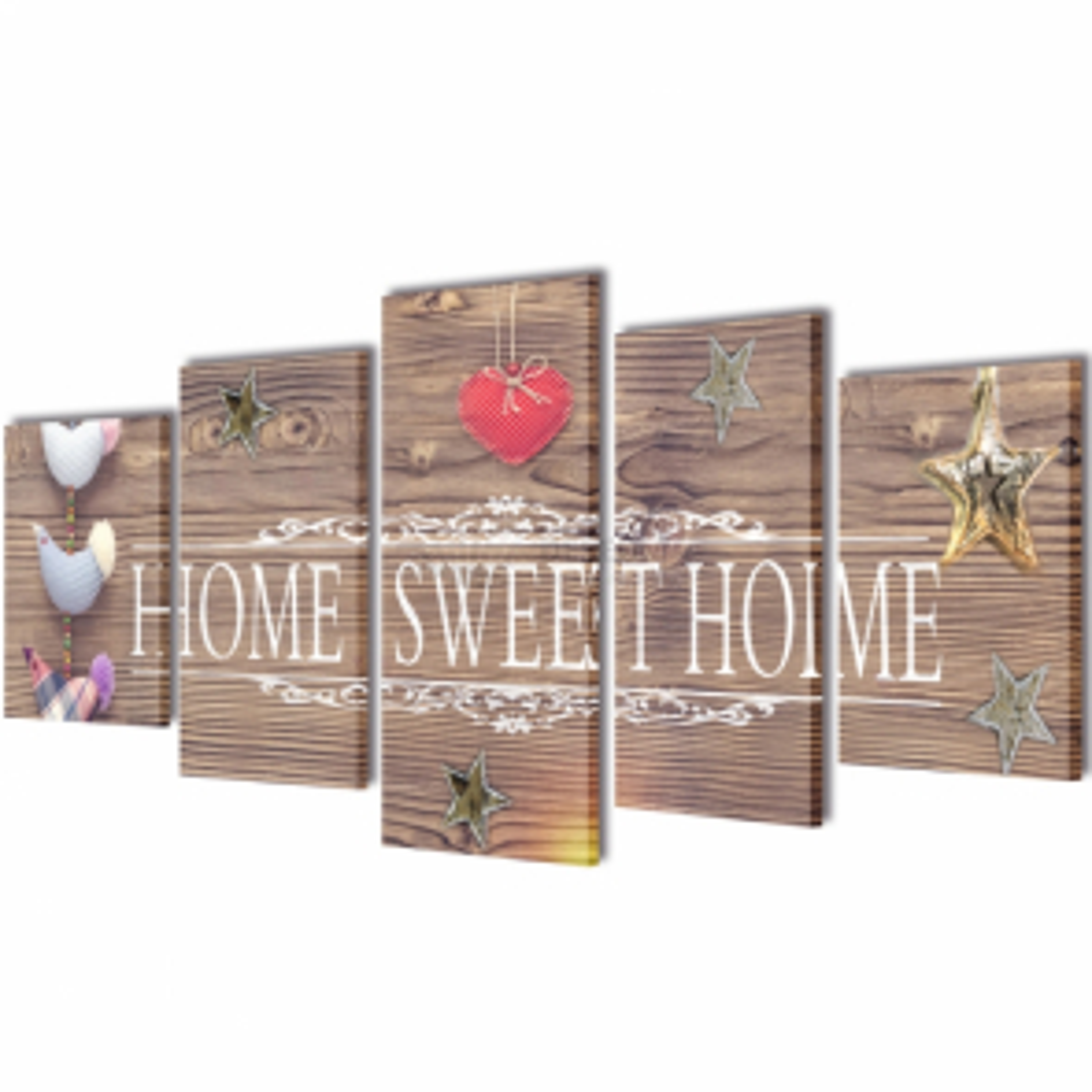 Sada obrazů, tisk na plátně, Home Sweet Home, 100 x 50 cm