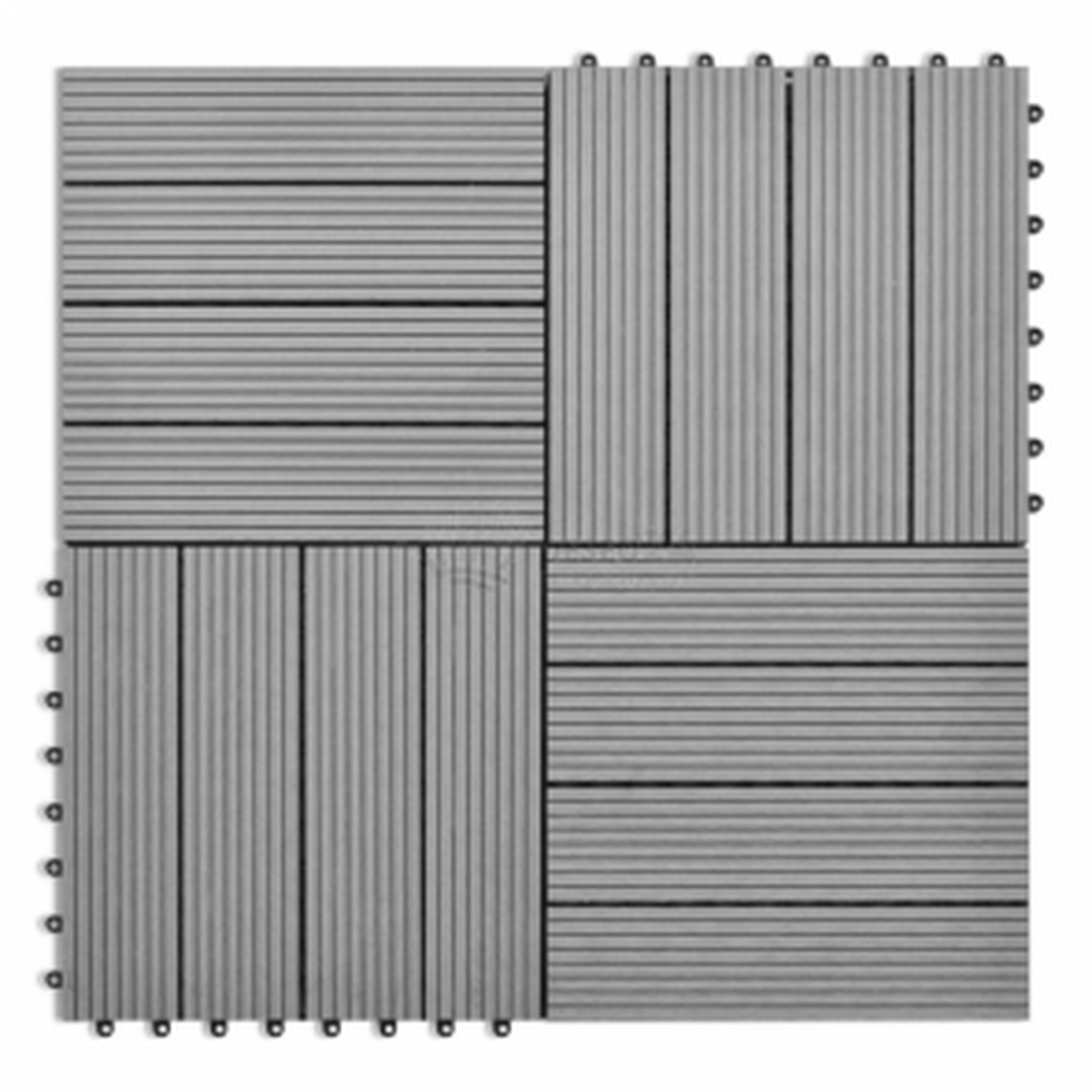 WPC dlaždice 30x30cm 11 ks 1 m2, šedé