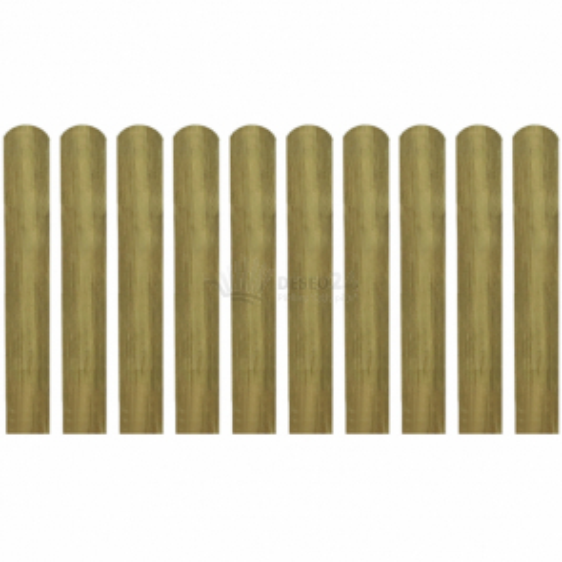 Impregnované plotovky 10 ks 60 cm dřevěné