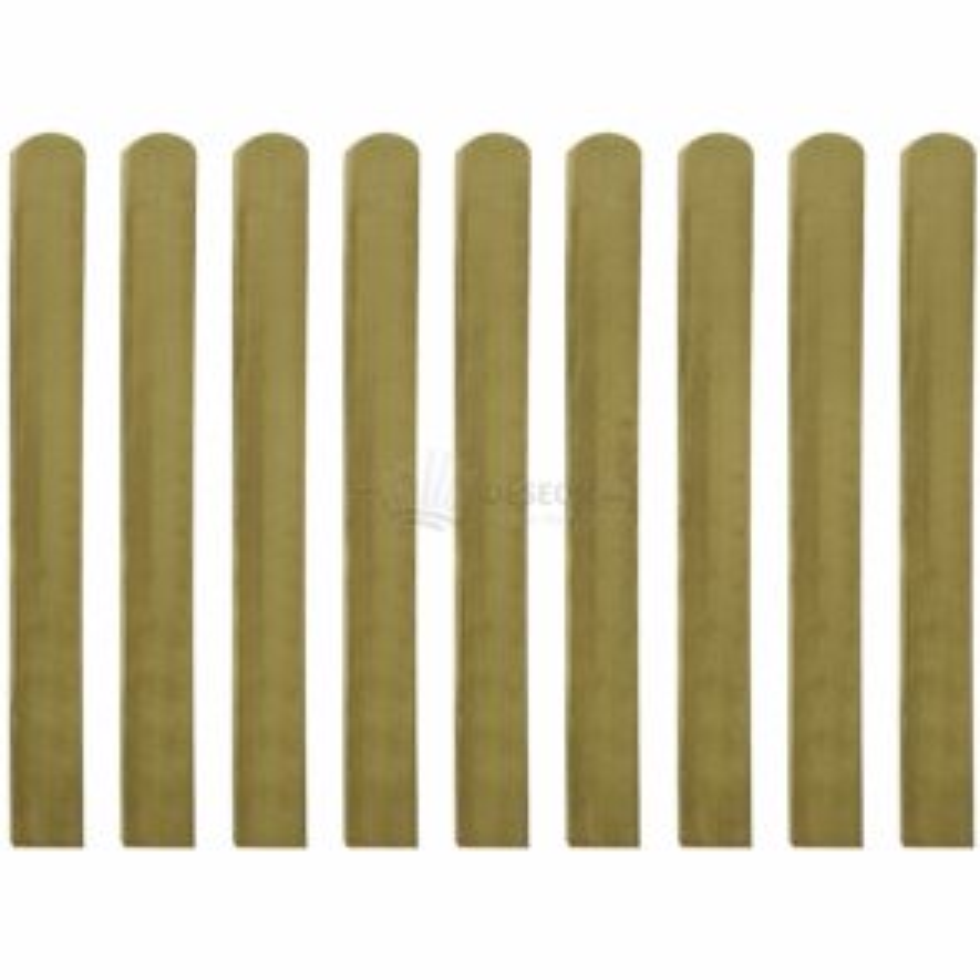 Impregnované plotovky 10 ks 100 cm dřevo