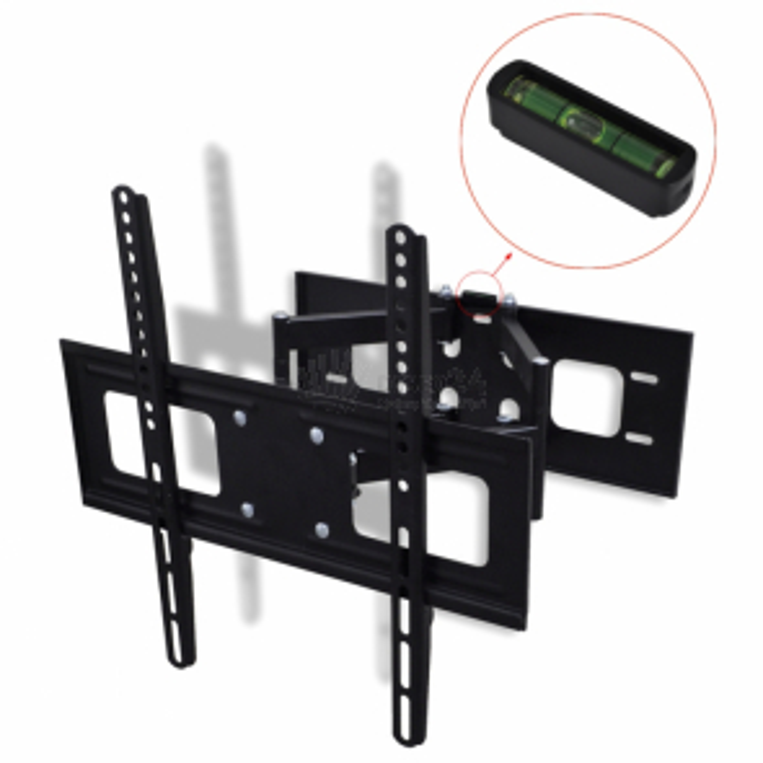 """Dvouramenný sklopný a otočný nástěnný TV držák 3D 400 x 400 mm 32""""–55"""""""