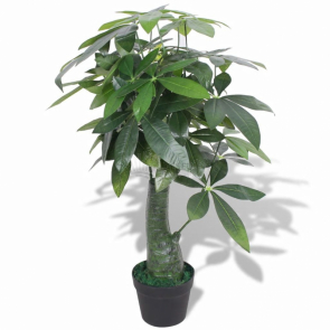 Umělá rostlina pachira s květináčem 85 cm zelená