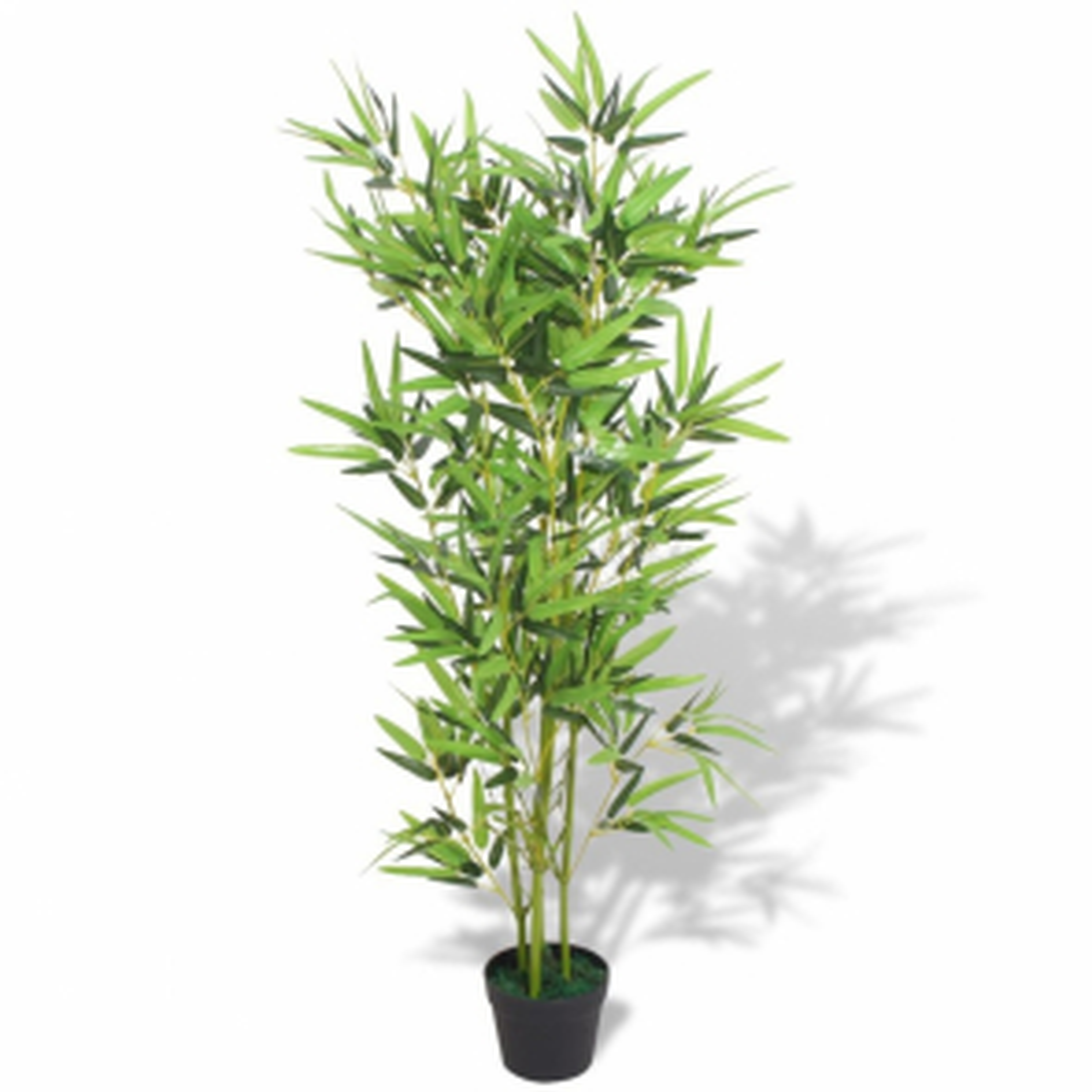 Umělá rostlina bambus s květináčem 120 cm zelený [244456]