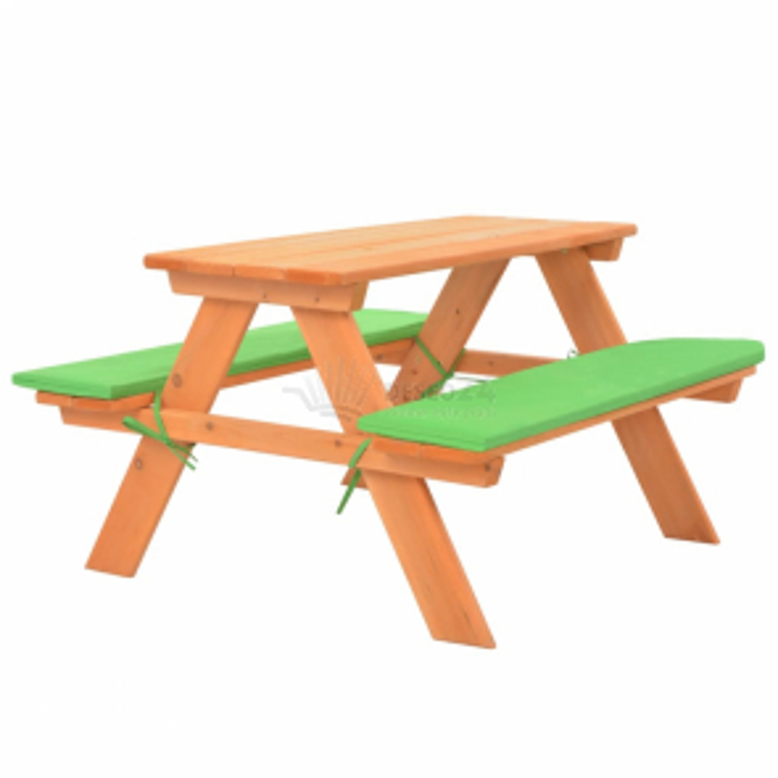 Dětský piknikový stůl s lavičkami 89 x 79 x 50 cm masivní jedle [91793]