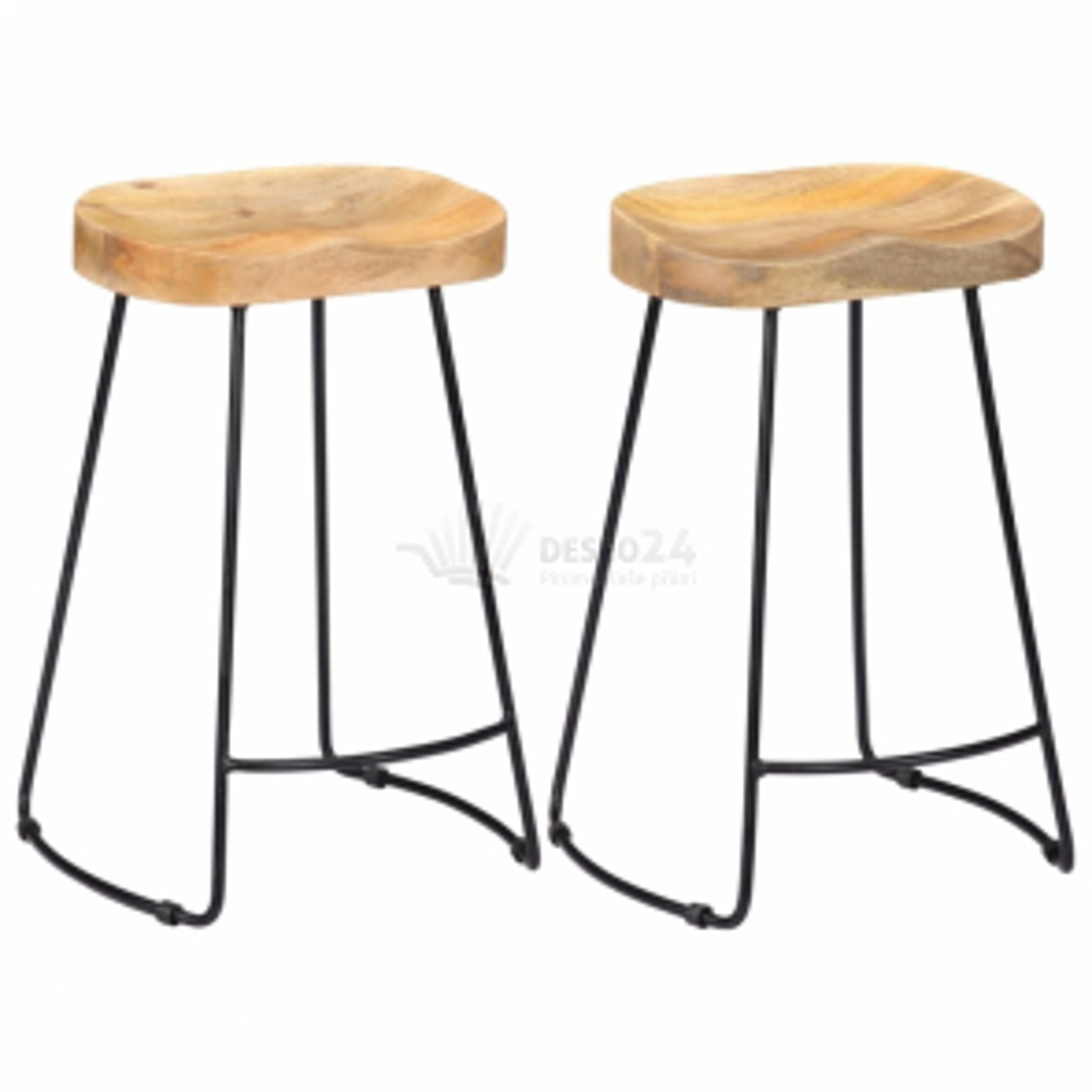 Barové stoličky Gavin 2 ks 45 x 40 x 62 cm masivní mangovník [247837]