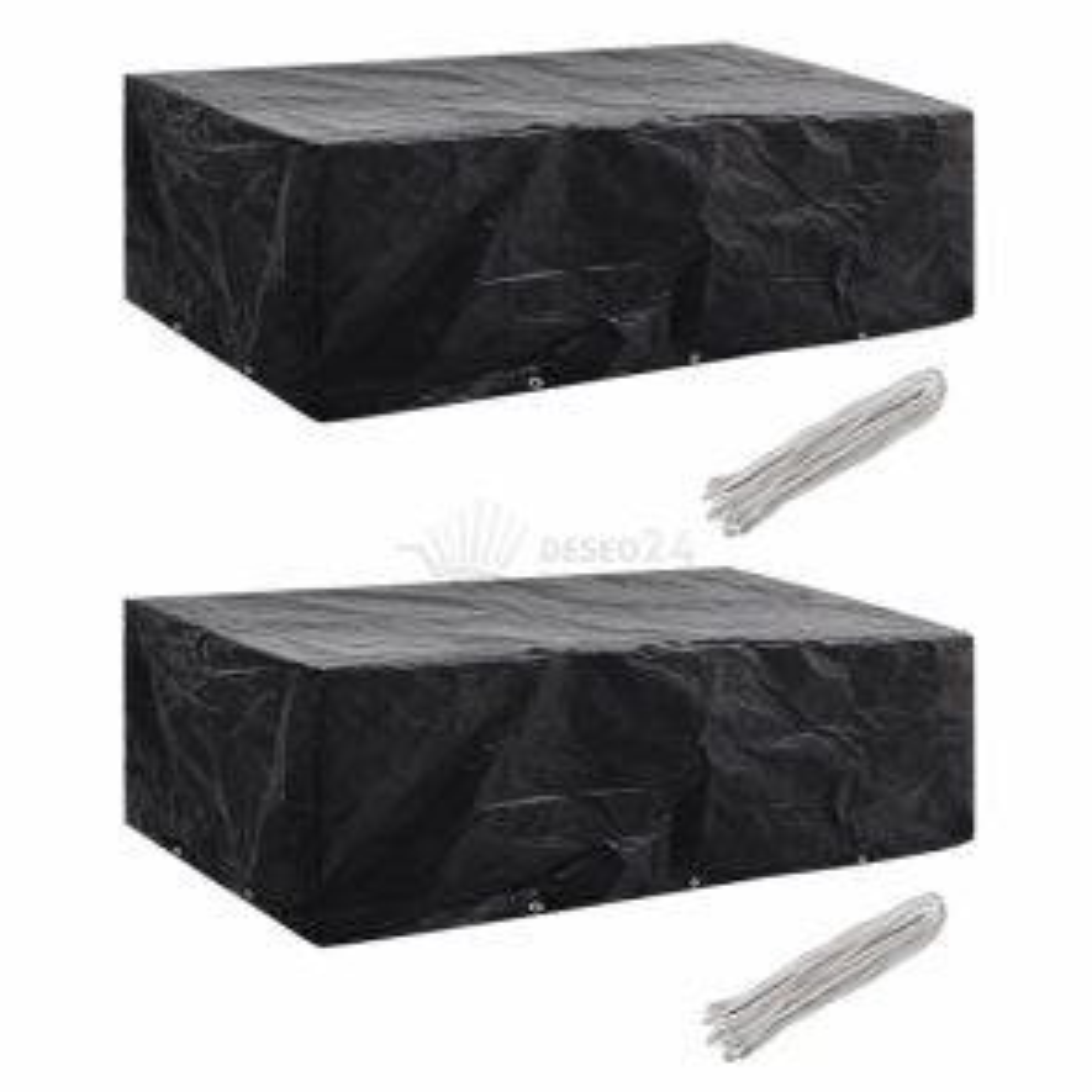 vidaXL Plachty na zahradní nábytek 2 ks polyratan 10 oček 300 x 140 cm [279124]