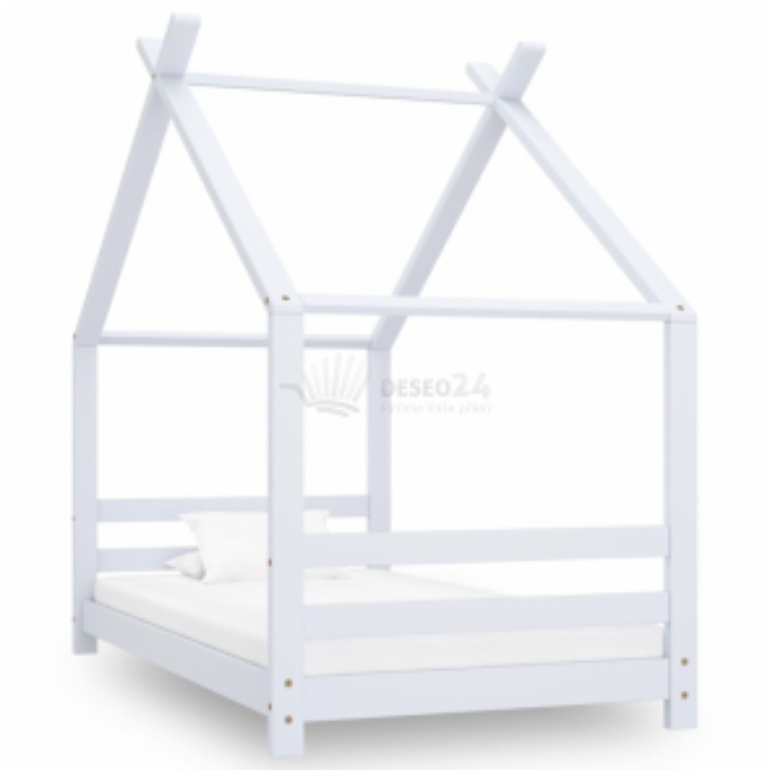 vidaXL Rám dětské postele bílý masivní borovice 80 x 160 cm [289611]