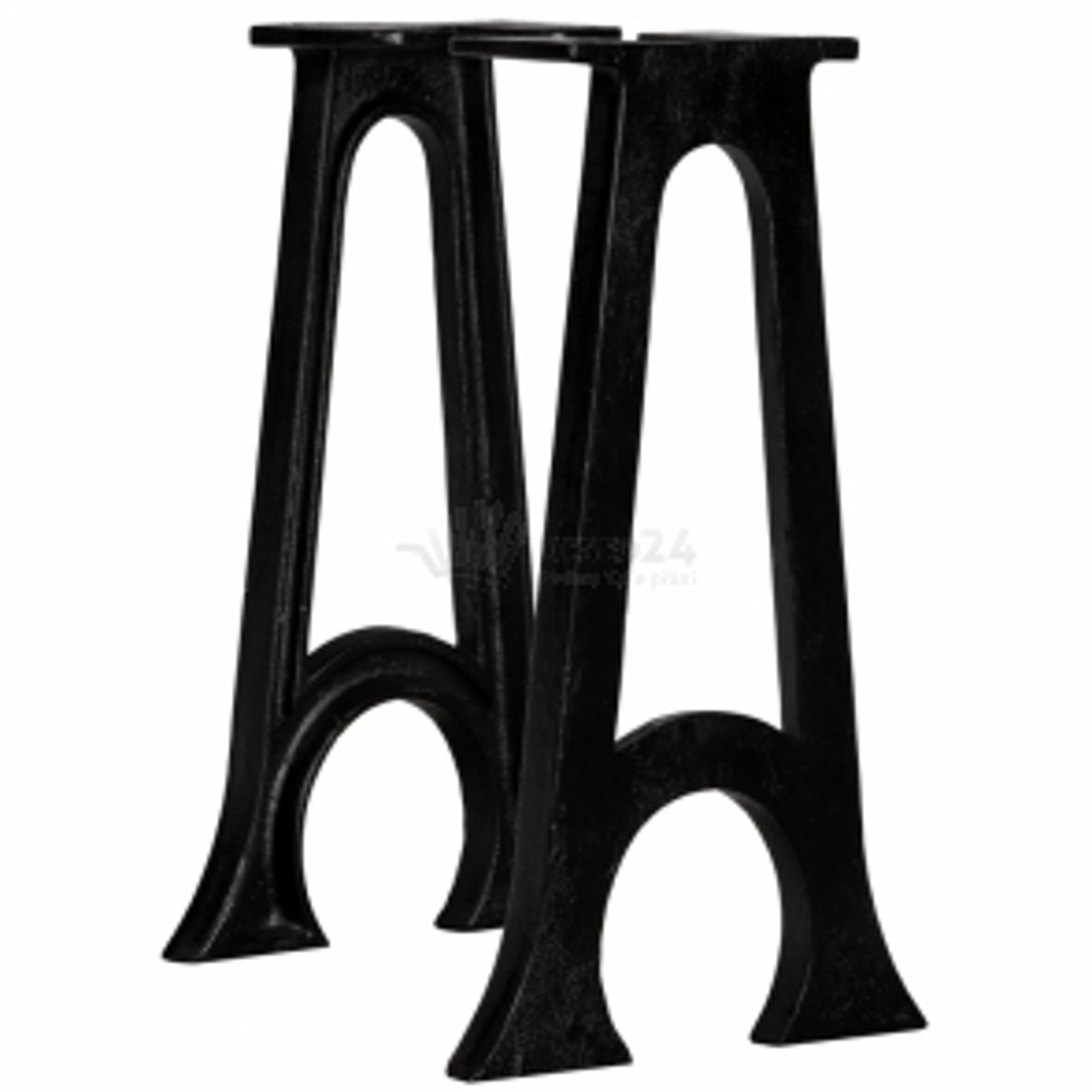 vidaXL Nohy k lavici ve tvaru oblého písmene A 2 ks litinové [245431]