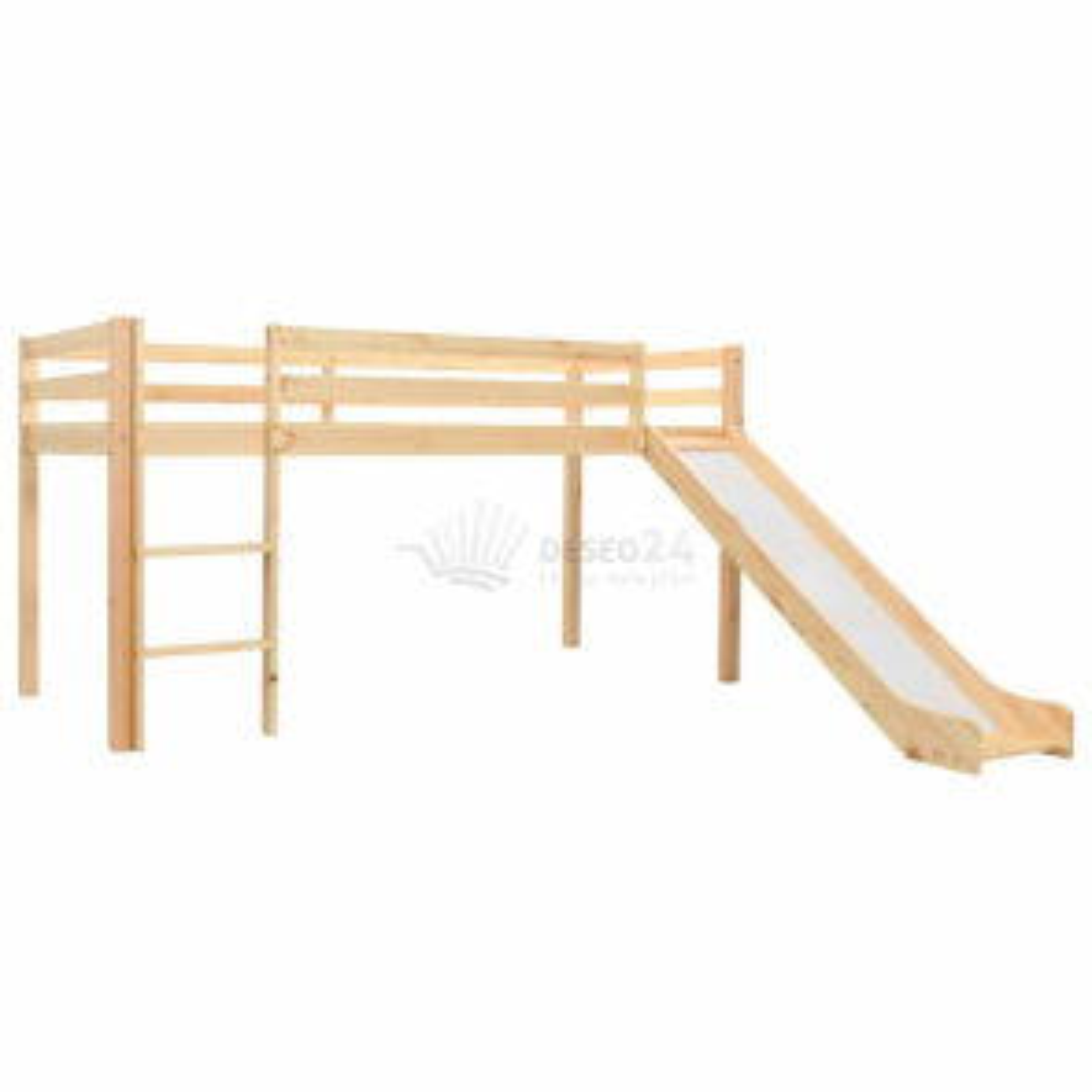 vidaXL Rám dětské patrové postele skluzavka a žebřík borovice 97x208cm [282714]