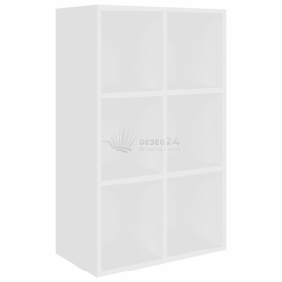 vidaXL Knihovna/příborník bílá 66 x 30 x 97,8 cm dřevotříska [800342]