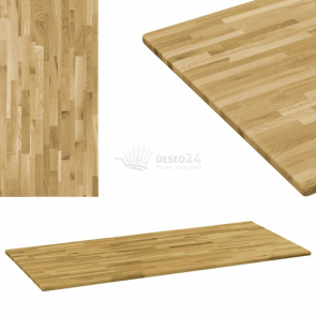 vidaXL Stolní deska masivní dubové dřevo obdélníková 23 mm 140 x 60 cm [245991]