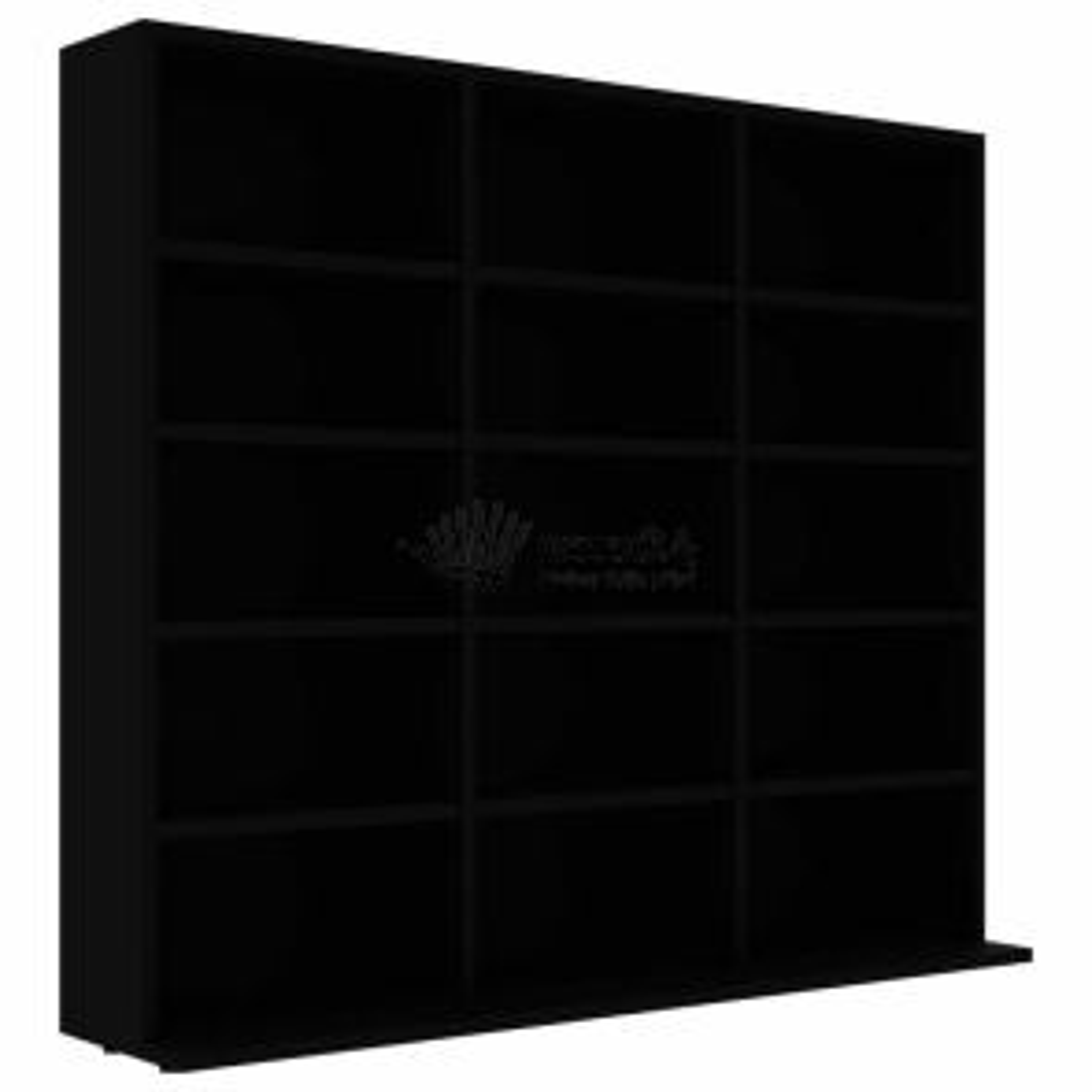 vidaXL Skříňka na CD černá 102 x 23 x 89,5 cm dřevotříska [801788]
