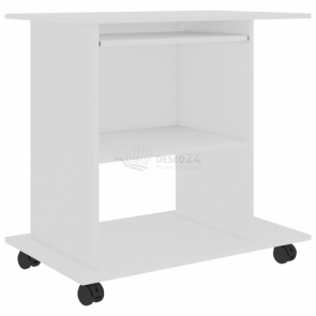 vidaXL Počítačový stůl bílý 80 x 50 x 75 cm dřevotříska [802894]