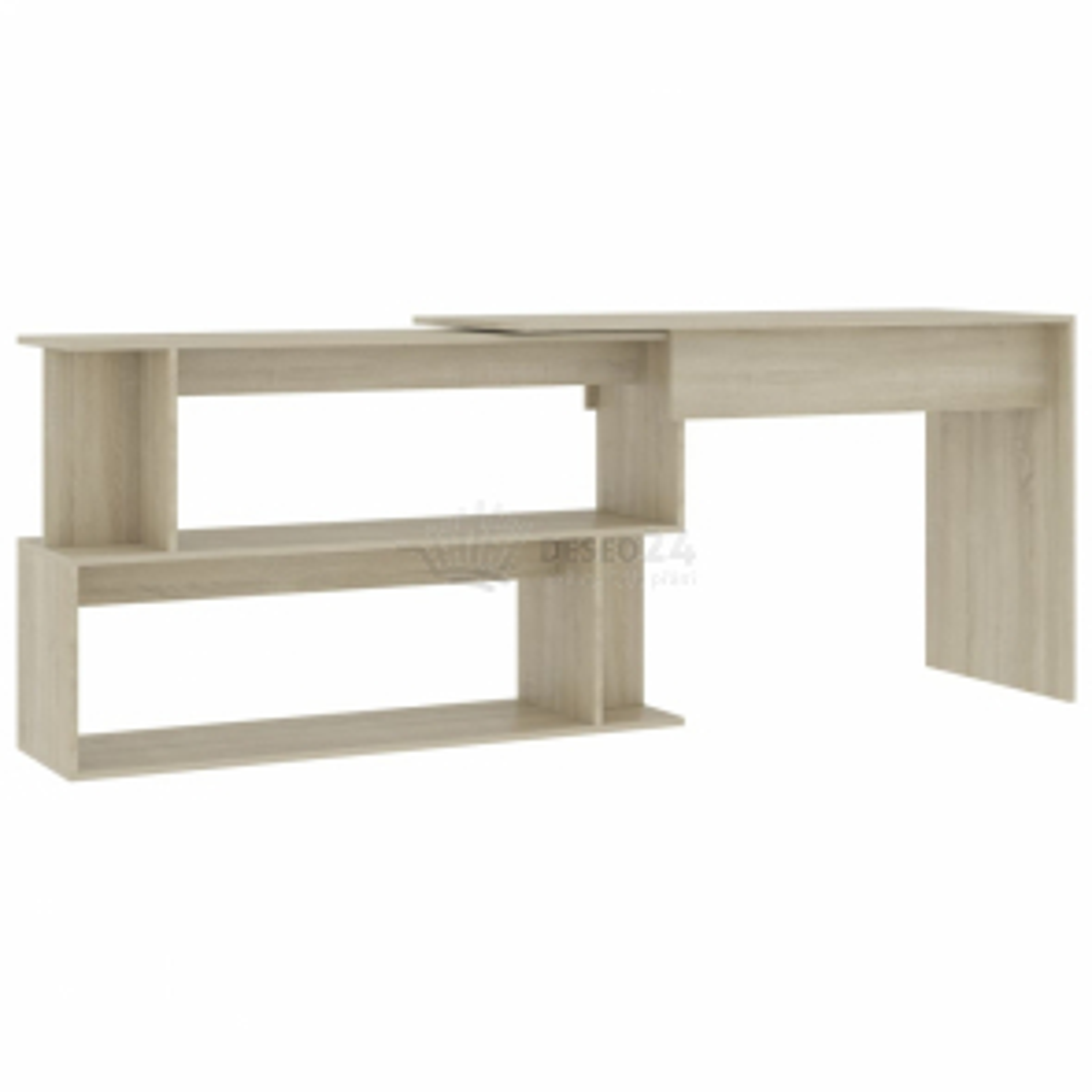 vidaXL Rohový psací stůl dub sonoma 200 x 50 x 76 cm dřevotříska [801101]