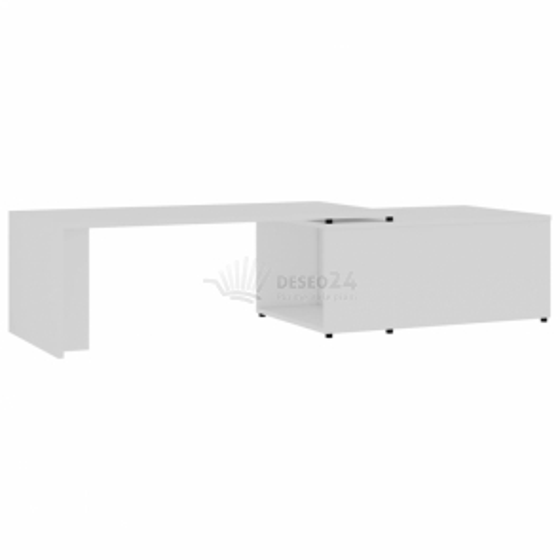 vidaXL Konferenční stolek bílý 150 x 50 x 35 cm dřevotříska [801337]