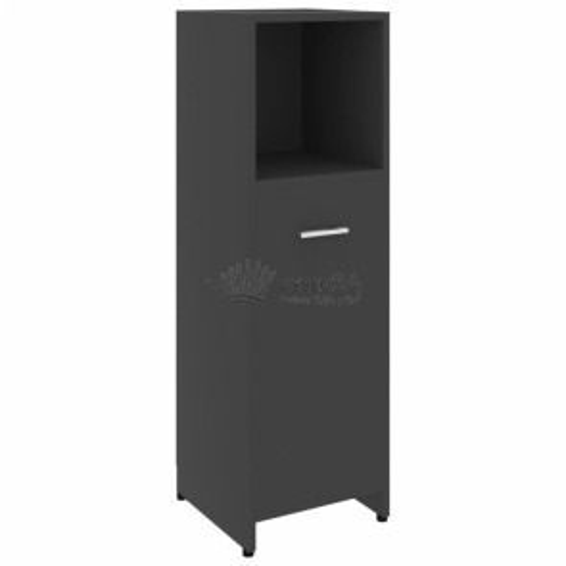 vidaXL Koupelnová skříňka šedá 30 x 30 x 95 cm dřevotříska [802590]