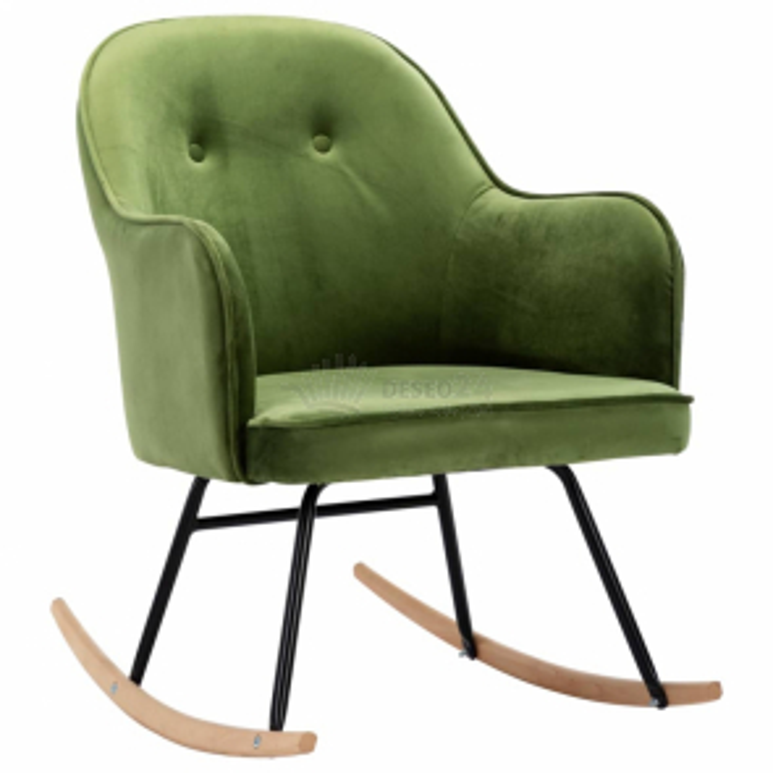 vidaXL Houpací židle světle zelená samet [289521]
