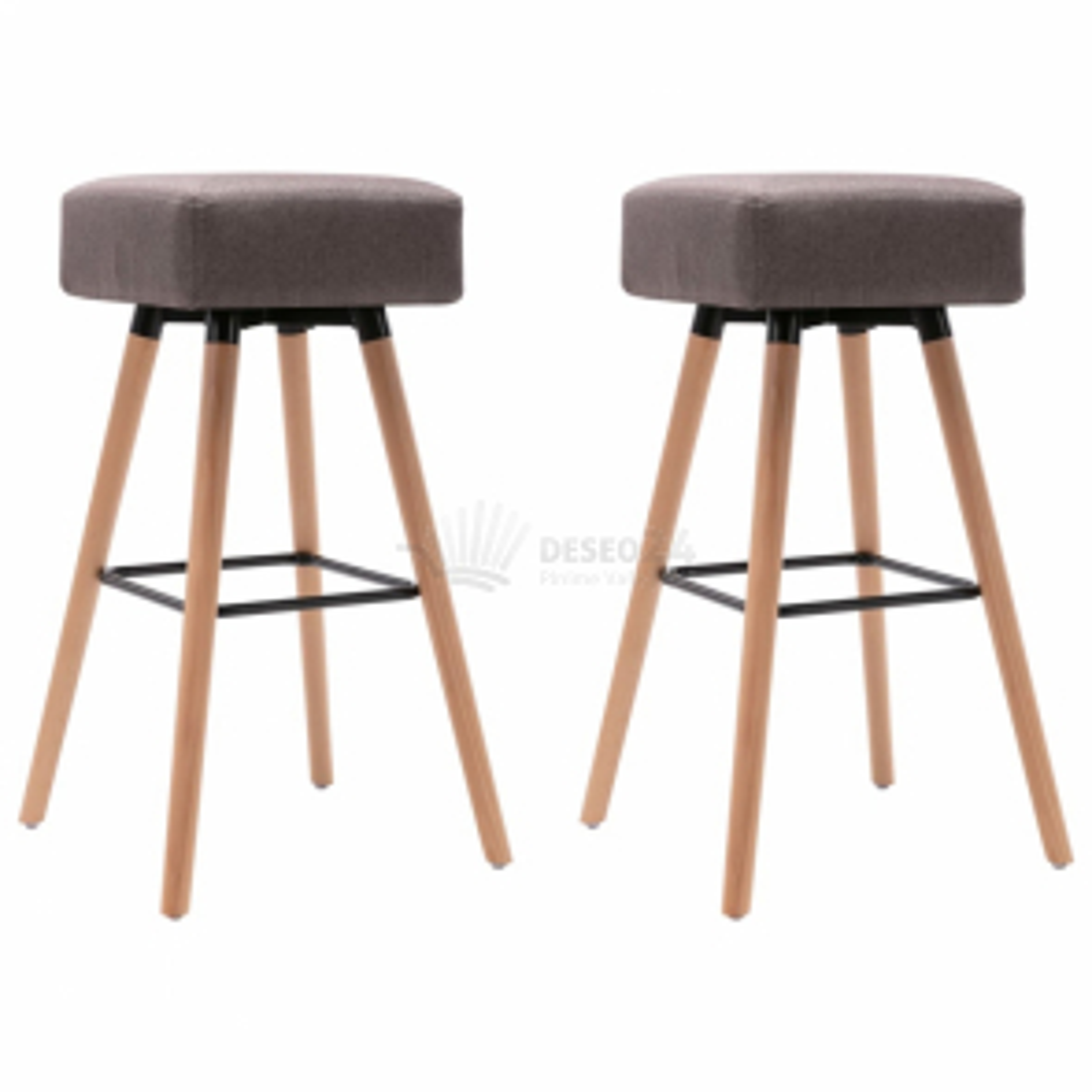 vidaXL Barové židle 2 ks taupe textil [249567]