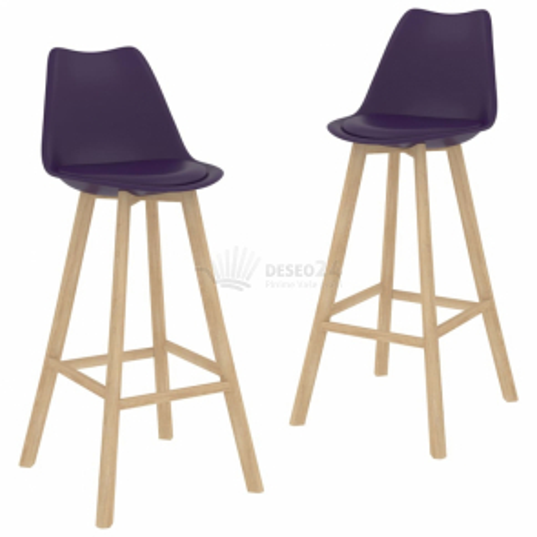 vidaXL Barové židle 2 ks tmavě fialové umělá kůže [289172]