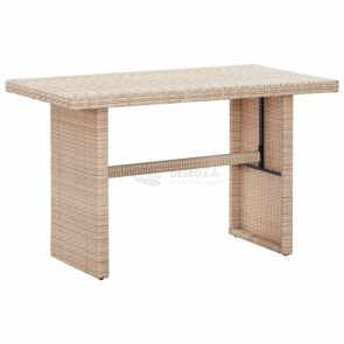vidaXL Zahradní stůl béžový 110 x 60 x 67 cm polyratan [46444]