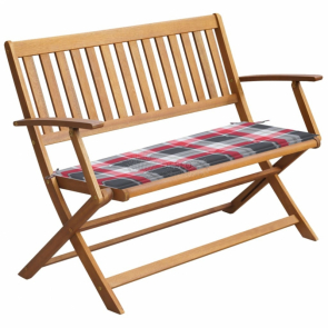 vidaXL Zahradní lavice s poduškou 120 cm z masivního akáciového dřeva [3064252]