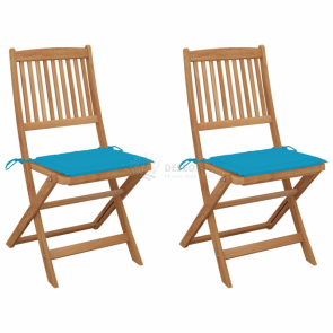 vidaXL Skládací zahradní židle s poduškami 2 ks masivní akáciové dřevo [3064648]