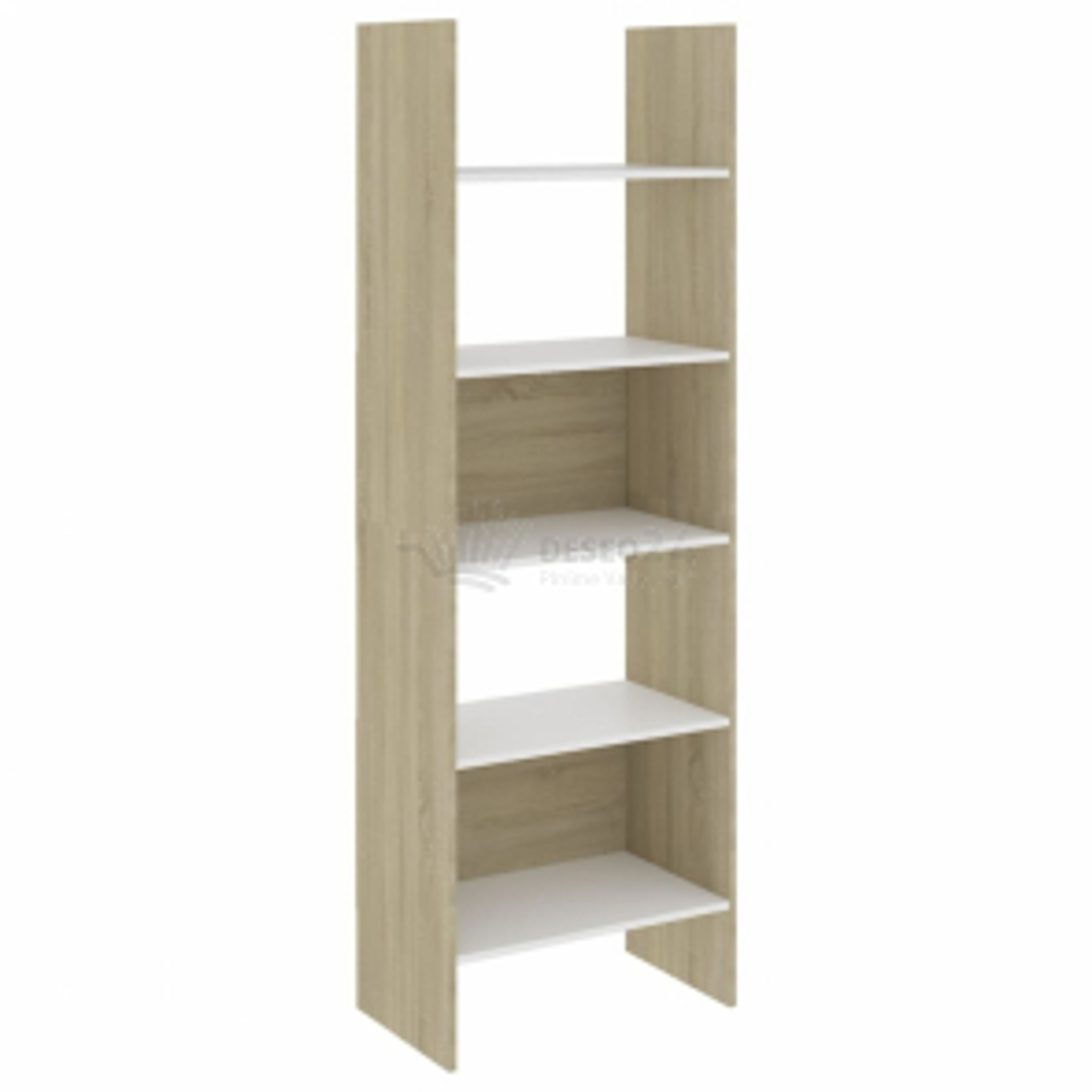 vidaXL Knihovna bílá a dub sonoma 60 x 35 x 180 cm dřevotříska [803412]