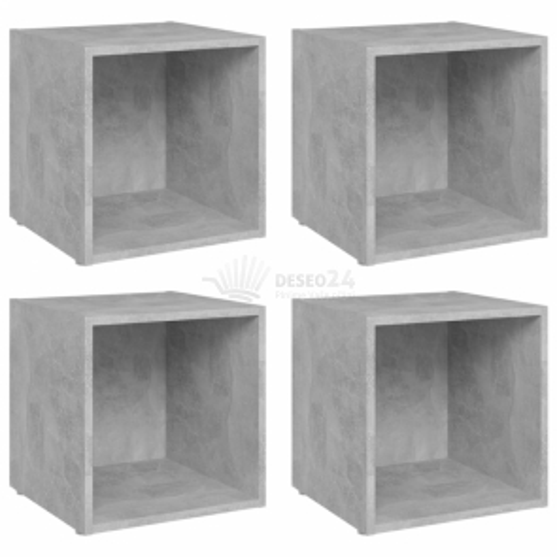 vidaXL TV stolky 4 ks betonově šedé 37 x 35 x 37 cm dřevotříska [805512]