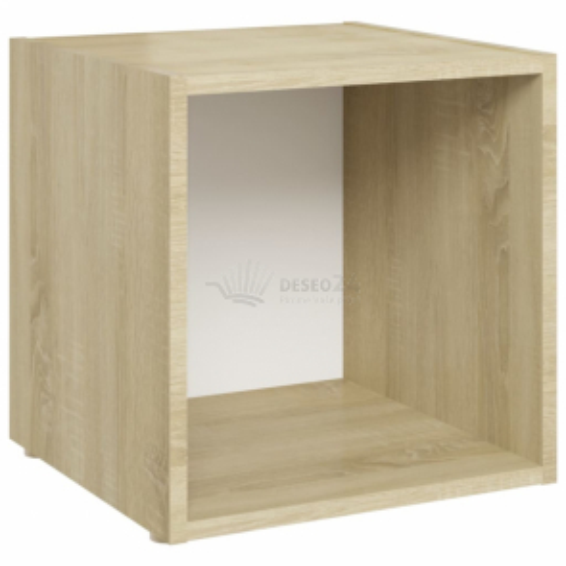 vidaXL TV stolek bílý a dub sonoma 37 x 35 x 37 cm dřevotříska [805513]
