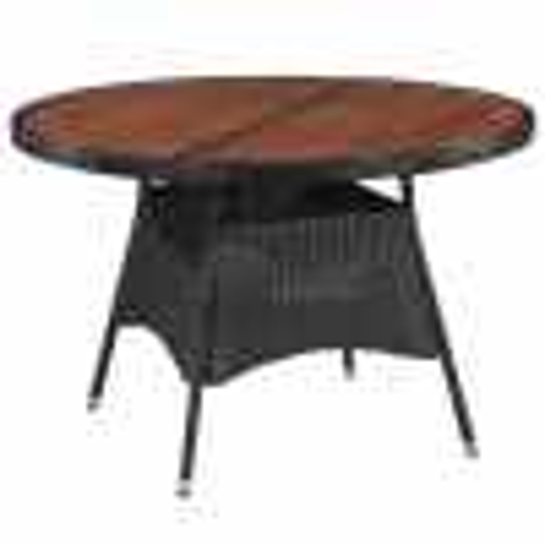 Zahradní stůl 115 x 74 cm polyratan a masivní akáciové dřevo