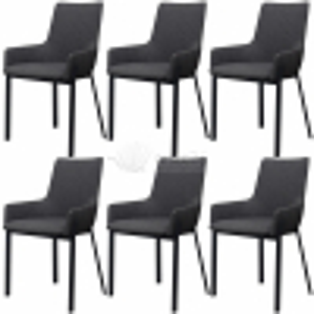 Jídelní židle 6 ks tmavě šedé textil